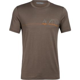 Icebreaker Tech Lite Single Line Camp T-shirt Herrer, driftwood